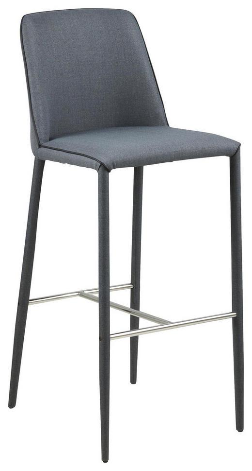TRESENSTUHL Webstoff Dunkelgrau - Dunkelgrau/Schwarz, Design, Textil/Metall (43/106/50cm) - Carryhome