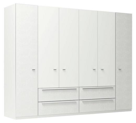 DREHTÜRENSCHRANK in Weiß  - Chromfarben/Weiß, MODERN, Holzwerkstoff/Metall (300/232/66cm) - Joop!