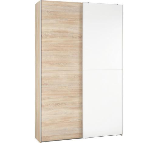 VÍCEÚČELOVÁ SKŘÍŇ, bílá, Sonoma dub - bílá/Sonoma dub, Konvenční, kompozitní dřevo (125/195/38cm)