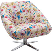 FOTELJ  večbarvno tekstil - krom/večbarvno, Design, kovina/tekstil (88/82/81cm) - Landscape