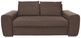 SCHLAFSOFA Hellbraun - Hellbraun/Chromfarben, Design, Holz/Textil (199/92/97cm) - Hom`in