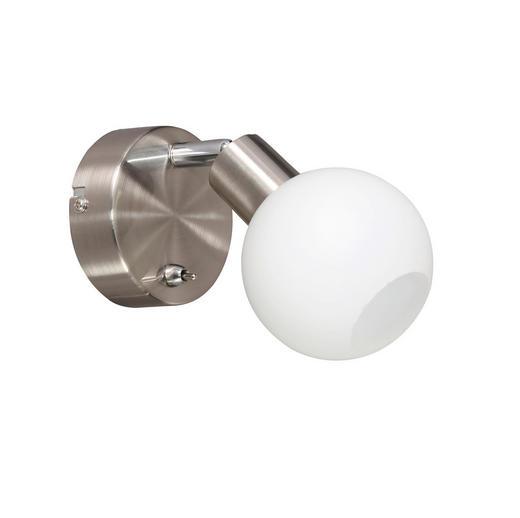 LED-STRAHLER - Nickelfarben, Design, Metall (19,5/12/10cm)