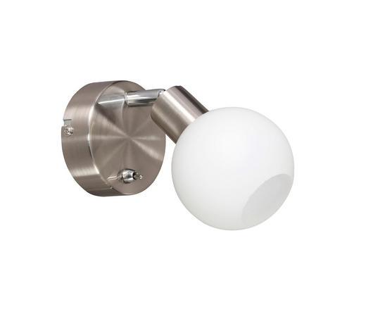 LED-STRAHLER - Nickelfarben, Design, Metall (16,2/13/9cm)