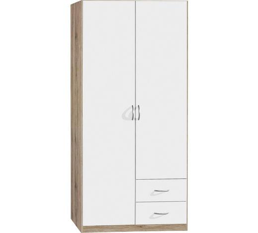 SKŘÍŇ, bílá, barvy dubu - bílá/barvy dubu, Konvenční, kompozitní dřevo/umělá hmota (91/197/54cm) - Boxxx