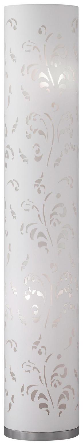 GOLVLAMPA - vit/kromfärg, Klassisk, metall/textil (110cm)