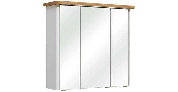 SPIEGELSCHRANK 80/72/20 cm  - Chromfarben/Eichefarben, KONVENTIONELL, Glas/Holz (80/72/20cm) - Xora
