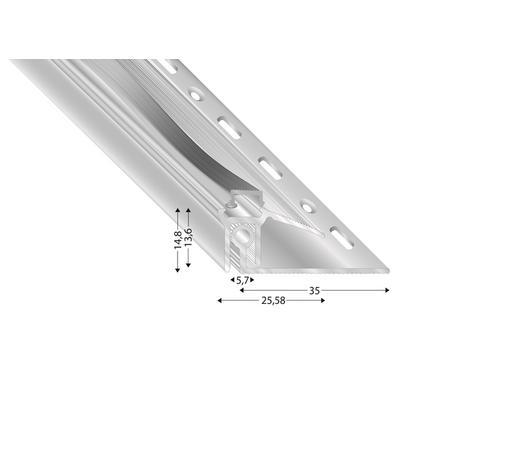 ABSCHLUSSPROFIL - Silberfarben, Basics, Metall (100cm)