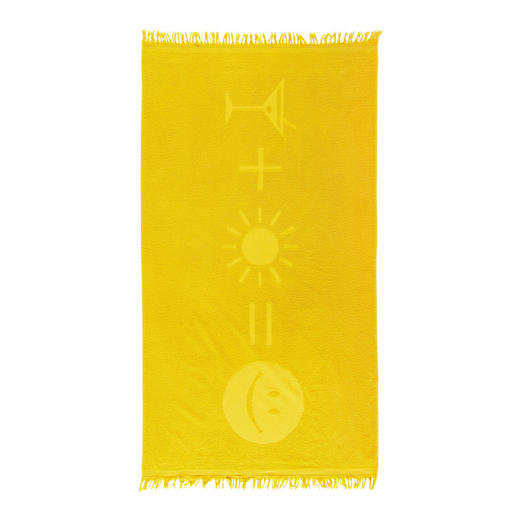STRANDTUCH 90/160 cm - Gelb, Basics, Textil (90/160cm) - Esposa
