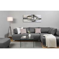 Ölgemälde - Blau/Schwarz, Design, Holz/Textil (150/55cm) - Monee
