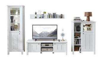 REGAL ZA DNEVNI BORAVAK - bijela/boje mjeda, Konvencionalno, drvni materijal/metal (338/192/50cm) - LANDSCAPE
