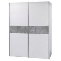 ORMAR S KLIZNIM VRATIMA - bijela/siva, Moderno, drvni materijal (170/195/59cm) - Ti`me