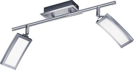 LED-STRAHLER - Chromfarben/Weiß, Design, Kunststoff (50/25cm)