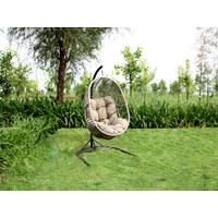 HÄNGESESSEL - Schwarz/Braun, KONVENTIONELL, Textil/Metall (111/193/110cm) - Ambia Garden