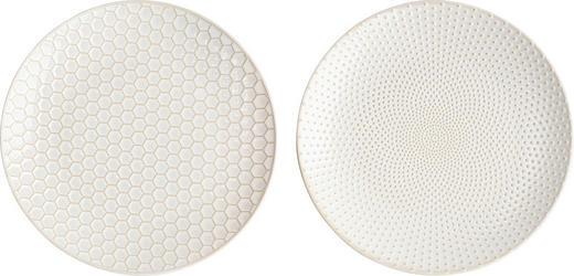 SPEISETELLERSET Keramik Steinzeug 2-teilig - Goldfarben/Weiß, LIFESTYLE, Keramik (20cm) - ASA