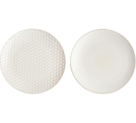 SPEISETELLERSET Steinzeug  2-teilig  - Goldfarben/Weiß, LIFESTYLE, Keramik (20cm) - ASA