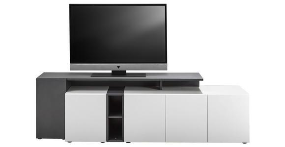 LOWBOARD 184/50/43 cm - Anthrazit/Schwarz, Design, Holzwerkstoff/Kunststoff (184/50/43cm) - Voleo