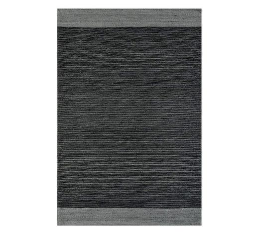 FLACHWEBETEPPICH - Dunkelgrau, Natur, Textil (60/110cm) - Boxxx