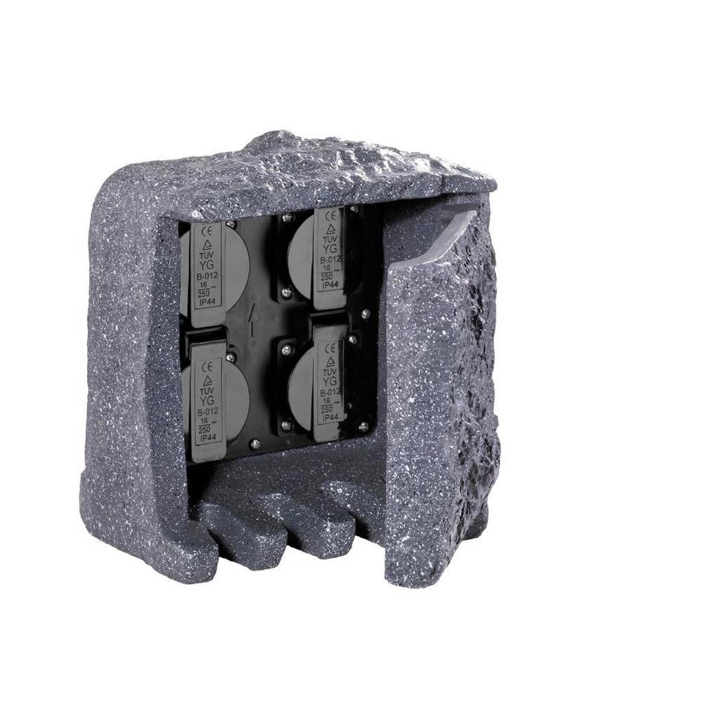 XXXL STECKDOSENELEMENT, Grau | Baumarkt > Elektroinstallation > Steckdosen