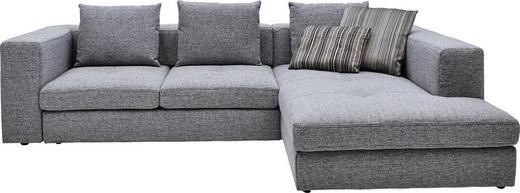 Ecksofa Grau Webstoff - Schwarz/Grau, Design, Kunststoff/Textil (304/194cm) - Dieter Knoll