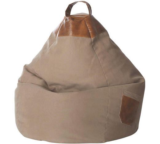 SITZSACK Flachgewebe Sandfarben  - Sandfarben, Design, Textil (80/130/80cm) - Carryhome