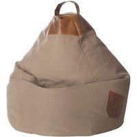 SITZSACK in - Sandfarben, Design, Textil (80/130/80cm)