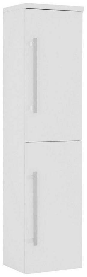 HÖGSKÅP - vit/kromfärg, Design, metall/glas (40/163/33cm) - Novel