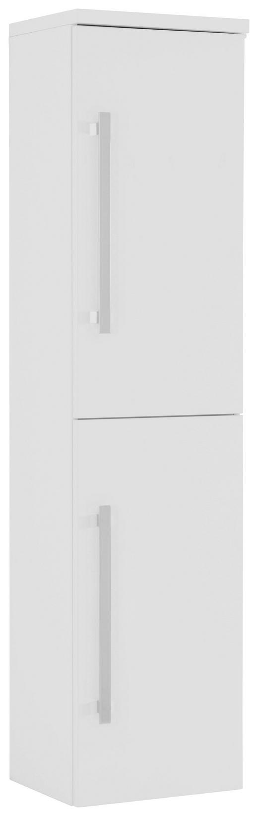VYSOKÁ SKŘÍŇ - bílá/barvy chromu, Design, kov/dřevěný materiál (40/163/33cm) - Novel