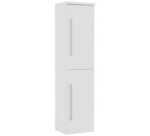 VYSOKÁ SKŘÍŇ - bílá/barvy chromu, Design, kov/kompozitní dřevo (40/163/33cm) - Novel