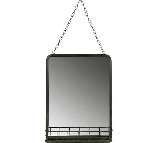 SPIEGEL - Schwarz, Design, Glas/Metall (35/46,5/10cm) - Ambia Home