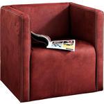SESSEL in Textil Bordeaux  - Chromfarben/Bordeaux, Design, Textil/Metall (66/67/68cm) - Hom`in