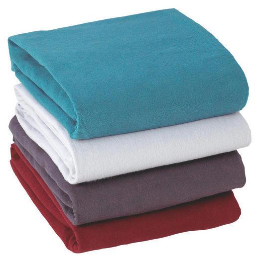 SPANNLEINTUCH 140/200 cm - Blau/Bordeaux, Basics, Textil (140/200cm) - Boxxx