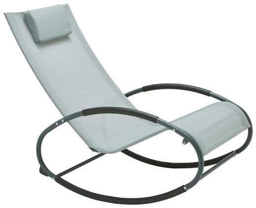 GARTENSCHAUKELSTUHL - Schwarz/Grau, Design, Textil/Metall (62/92/101cm) - Xora