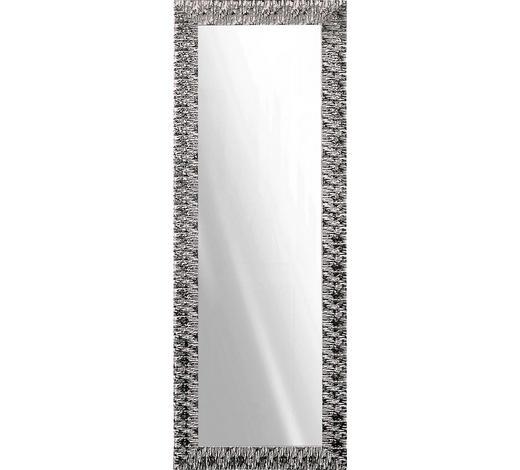 NÁSTĚNNÉ ZRCADLO, 55/155/2 cm,  - bílá/barvy stříbra, Design, dřevo/sklo (55/155/2cm)