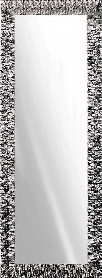 STENSKO OGLEDALO, steklo - bela/srebrna, Design, steklo/les (55/155cm) - Ti`me