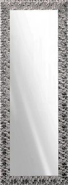 WANDSPIEGEL - Silberfarben/Weiß, Design, Glas/Holz (55/155cm)