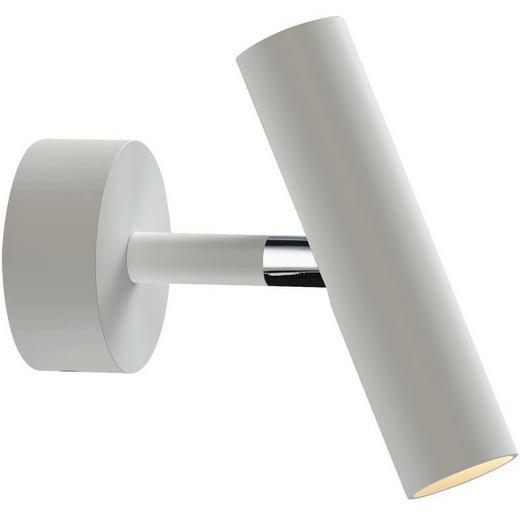WANDLEUCHTE - Chromfarben/Weiß, Design, Metall (3/15cm)