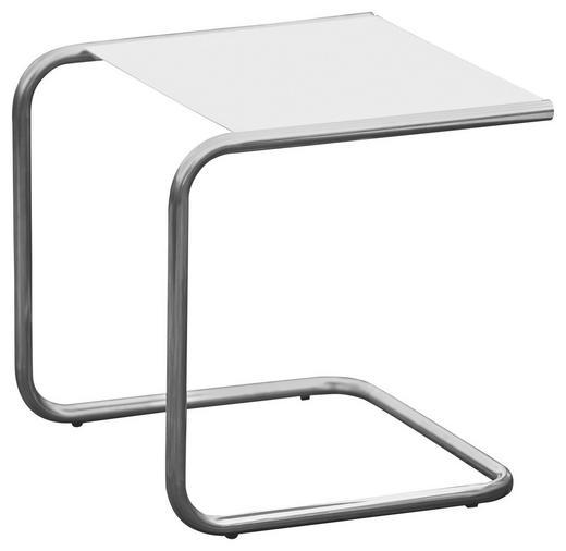 GARTENBEISTELLTISCH - Alufarben/Weiß, Basics, Metall (40/40/40cm)