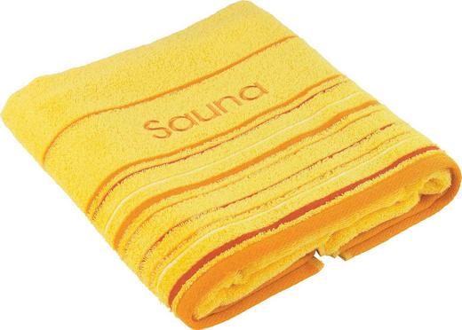 SAUNATUCH 70/200 cm - Gelb, KONVENTIONELL, Textil (70/200cm) - ESPOSA