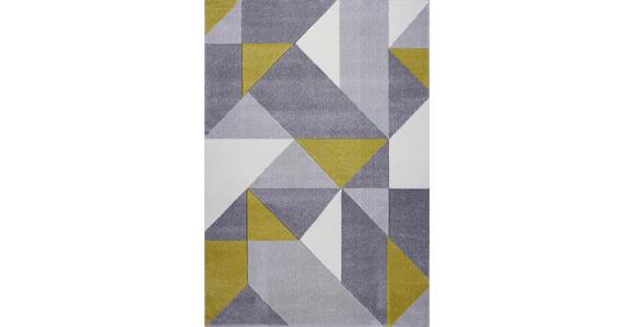 WEBTEPPICH  120/170 cm  Gelb, Grau, Weiß - Gelb/Weiß, Textil (120/170cm) - Novel