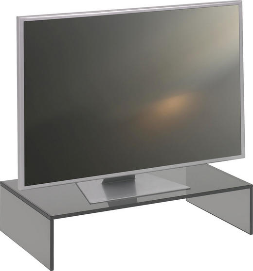 TV-AUFSATZ  Glas  Grau - Grau, Design, Glas (60/14/35cm) - Boxxx