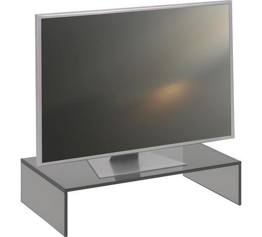 TV NÁSTAVEC, sklo, šedá - šedá, Design, sklo (60/14/35cm) - Boxxx