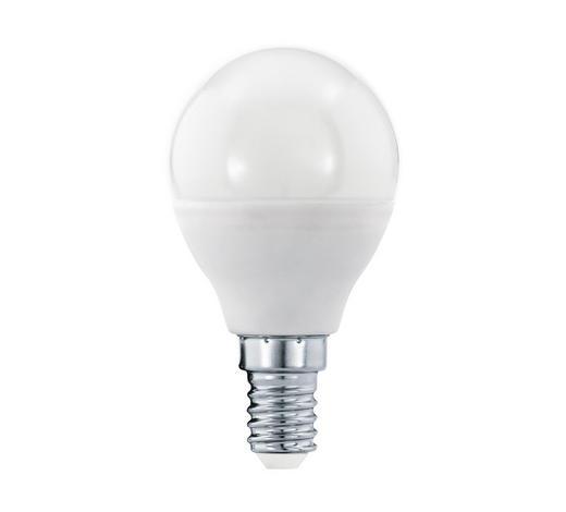 LED-LEUCHTMITTEL  E14 6 W - Weiß, Basics, Glas (8cm) - Homeware