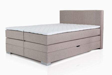 BOXSPRING KREVET - Bež, Dizajnerski, Tekstil (160/105/200cm) - Hom`in