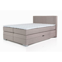 BOXSPRING KREVET - bež, Design, tekstil (160/105/200cm) - Hom`in