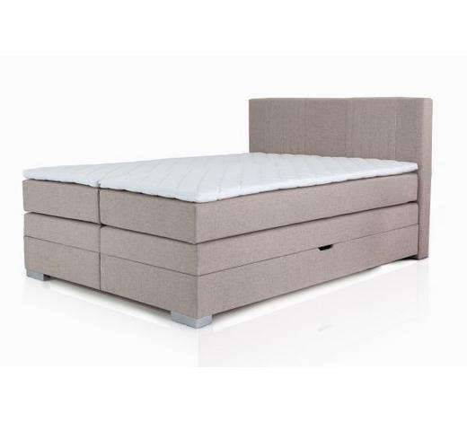 BOXSPRING KREVET - bež, Design, tekstil (160/105/200cm) - Hom`in