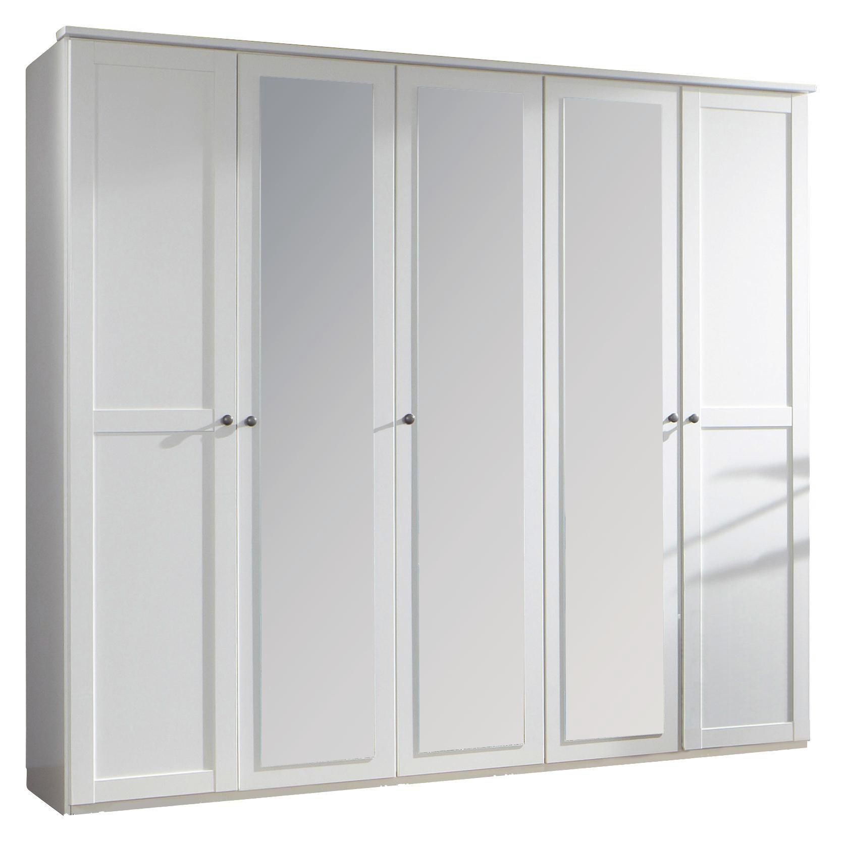 Kleiderschrank weiß  KLEIDERSCHRANK 5 -türig Weiß online kaufen ➤ XXXLShop