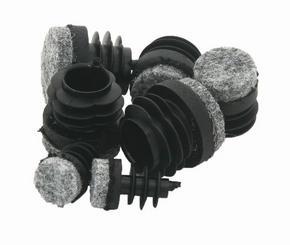MÖBELTASSAR - grå/svart, Basics, textil/plast (0,9cm)