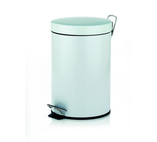 KOSMETIKEIMER 5 L  - Schwarz/Weiß, Basics, Kunststoff/Metall (20,5/28cm) - Kela
