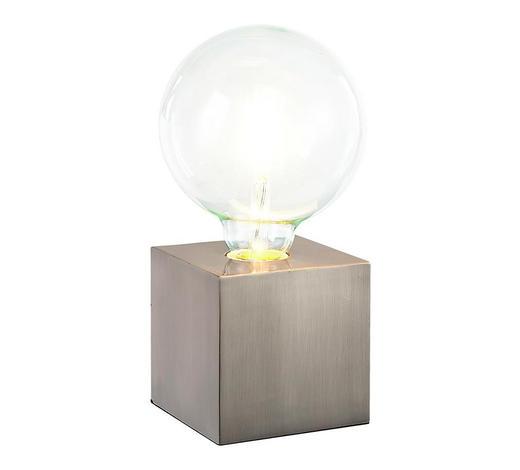 TISCHLEUCHTE - Nickelfarben, Design, Metall (10/10/10cm) - Boxxx