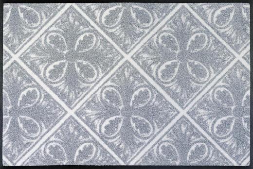 FUßMATTE 50/75 cm Graphik Grau - Grau, Basics, Kunststoff/Textil (50/75cm) - Esposa